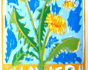 Flower! Original Woodblock Print