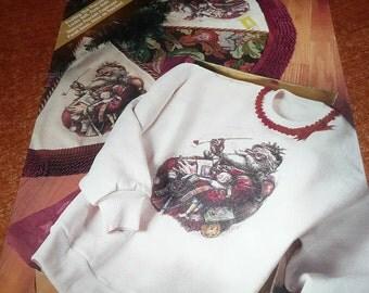 Daisy Kingdom Heat Applied Treansfer Treasures Antique Santa