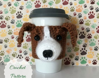Crocheting Patterns - Dog Crochet Pattern - Amigurumi Patterns - Crochet Dog Pattern - Mug Cozy Pattern - Crochet Pattern - Amigurumi Dog