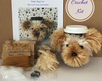 Crocheting Kit, Amigurumi Kit, Crochet Pattern Dog, Crochet Yorkie, Crochet Gifts, Crochet Dog Pattern, Dog Crochet Pattern, Crochet Kit