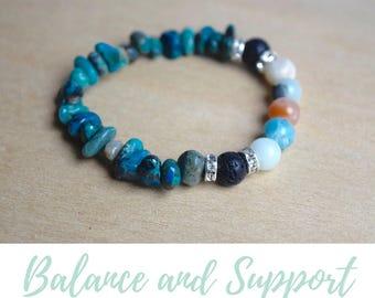 Amazonite Bracelet / gift for goddaughter, balance bracelet, energy stone jewelry, diffuser bracelets, meaningful bracelet, chrysocolla