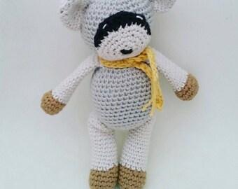 Crochet Raccoon, Crochet Animal, Newborn Amigurumi Toy, Woodland prop, Stuffed animal toy, Newborn Photo Prop, Christmas gift.