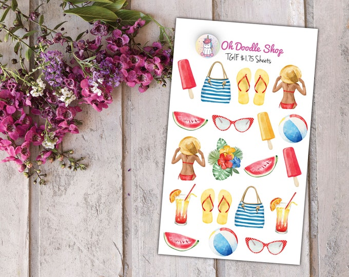 Summer Planner Stickers | 2 Dollar Tuesday