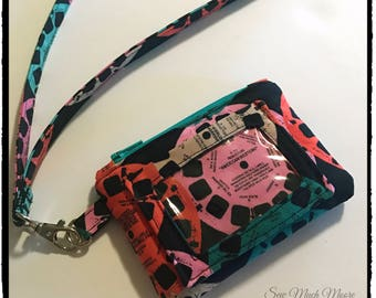 Retro Viewfinder ID Wallet Lanyard Badge Holder Cash and Coin Purse
