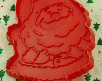 1970's Hallmark Red Santa Plastic Christmas Cookie Cutter