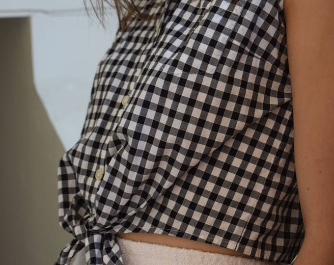Ralph Lauren Sleeveless Gingham Blouse | SALE