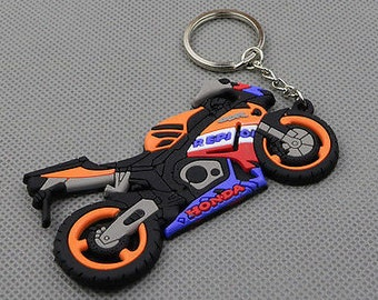 Motorcycle Keychain, Motorcycle Keyring, Rubber Biker Keychain, Biker Keyring, Motorcycle Gifts, Novelty Keychain, Biker Lover Gifts, Moped