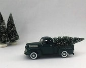 1948 Ford pick up truck, vintage National Motor Museum Mint replica truck with movable parts, modern country farmhouse holiday decor