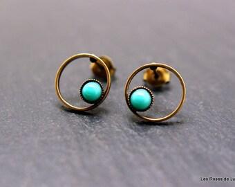 Earrings mini round earrings