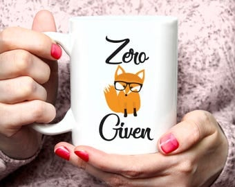 Zero Fox Mug, Zero Fox Given Mug, F*ck Mug, Curse Word Mug, Funny Mug, Unique Mug, Rose Gold Rebel, Cute Coffee Mug, Sassy Mug 15FM