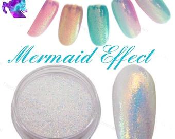 MERMAID EFFECT nails Pearl Pigment Glitter Powder Dust for Nail Art - Nail TREND