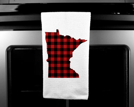 Minnesota Plaid | Microfiber | Kitchen Towel | Waffle Weave | Drying Cloth