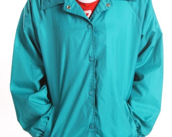 Vintage Teal Windbreaker