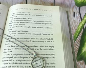 Scarlet Letter Necklace / Nathaniel Hawthorne / Word Nerd / English Majors / Literature Lovers / Bibliophiles / First Anniversary