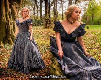 Victorian Ballgown, Civil war, crinoline dress, romantic era, wedding