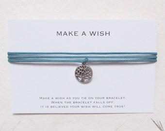 Wish bracelet, make a wish bracelet, friendship bracelet, tree bracelet