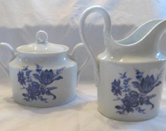 Richard Ginori Porcelain Creamer and Sugar