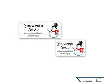 Snowman Soup Bag Toppers, Snowman, Treat Bag Toppers, Bag Toppers, Party Favor, Frosty, Snowman Soup, Printable, Instant Download, Party