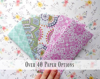 Paper Budget Envelopes / Money Envelopes Dave Ramseys Budget Envelope System Cash Envelopes / 8 Paper Envelopes Money Holder  Boho Mandela