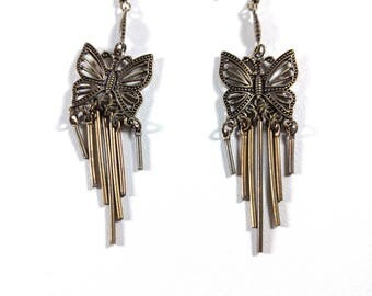 Butterfly Dangle Earrings - Vintage jewelry