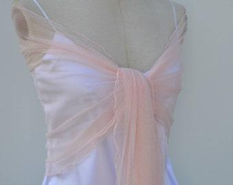Pink shawl satin pink wedding, Bridal stole tulle pink satin, tulle satin pink stole Bridal, bride, pink tulle stole bridal women