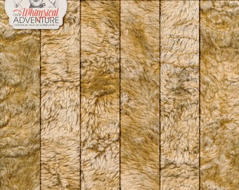 Fake Fur, Faux Fur, Fluffy Papers, Commercial Use OK, Digital Download, Digital Textures, Teddybear, Woodland, Winter, Christmas Themed Kits