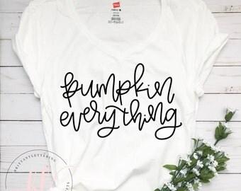 Pumpkin Everything SVG - Pumpkin Everything - Hand Lettered SVG