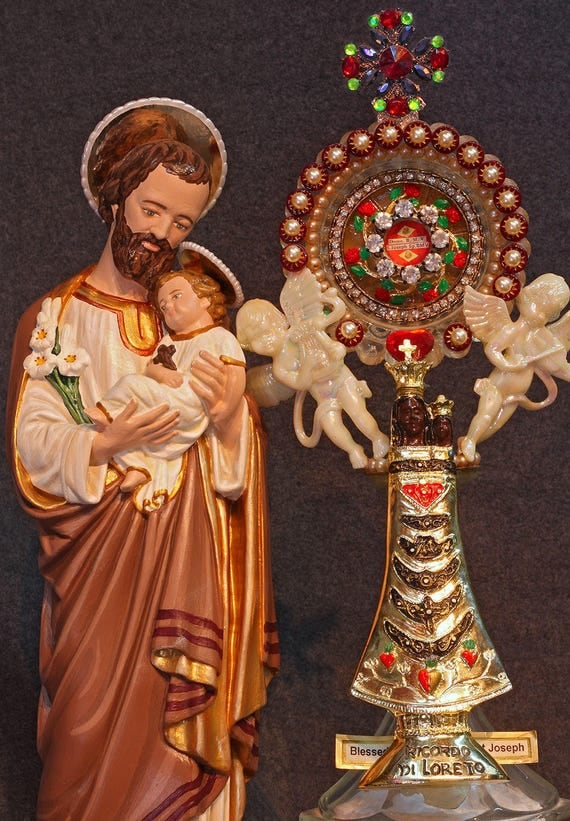 """St. Joseph and Baby Jesus 18"""" Patron of Workers"""
