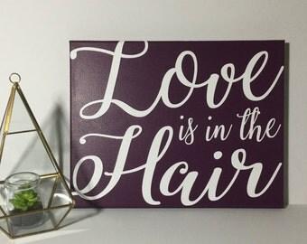 Painted Canvas Sign - hair salon decor - beauty salon decor
