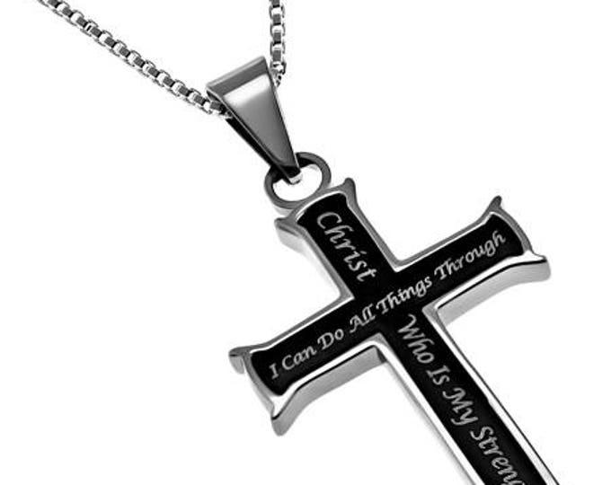 "Iron Cross ""Christ My Strength"""