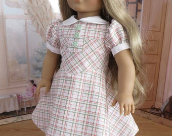 18 Inch Doll Clothes - 1940 Style School Dress