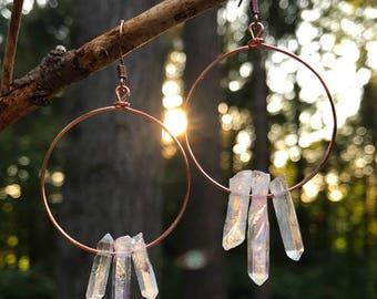 Crystal Earrings - 3 Clear