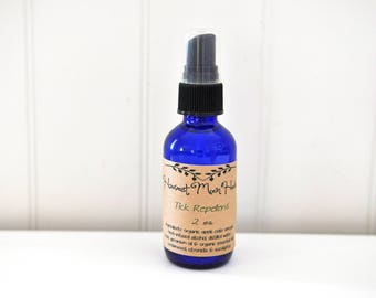 Tick Repellent | Organic Insect Spray | Non-Toxic Outdoor Repellent | Herbal Dog Tick Spray | Non-Toxic Repellent | 2 oz Glass Spray Bottle