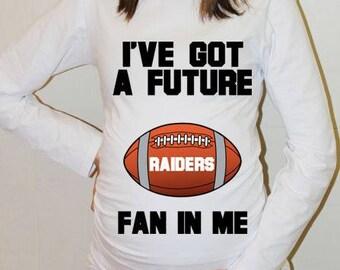 Raiders Maternity Shirt Oakland Raiders Baby Future Fan Shirt Baby Oakland Football Maternity Clothing Pregnancy Shirt Baby Shower