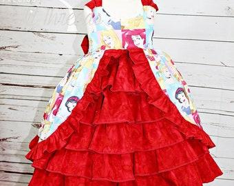Girls Princess Ball Gown- Toddler Girls- Princess Dress- Baby Girls Princess Dress- 3-6m, 6-12m, 12-18m, 18-24m, 2t, 3t,4 t, 5t, 6, 8