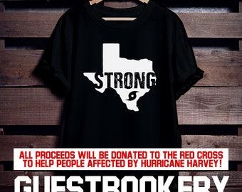 Texas Strong T-shirt - Harvey - Hurricane Harvey - Texas - Texas Gift - Hurricane Relief - Houston Strong -  Texas Shirt - Houston - T-Shirt