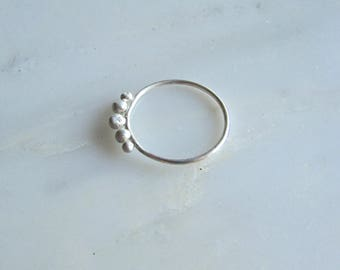 sterling silver bubbles ring | minimal | sz 7.25 US  *free shipping in US