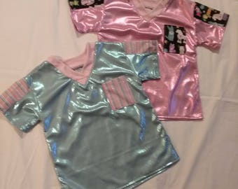 Childs SCRUB Top - SHIMMERY MERMAID in Pink or Blue