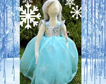 Snow Flake Princess Dress Elsa Inspired