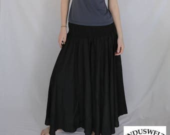 Skirt Pant in solid black