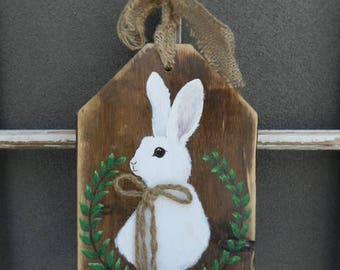 Easter wood sign etsy easter decorations easter bunny easter gifts easter wood sign easter bunny wood negle Image collections