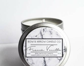 2 oz Natural Soy Candle French Vanilla Scented | 2 oz Tin Candle | Vanilla Soy Candle | French Vanilla | Scented Soy Candle | Soy Candles