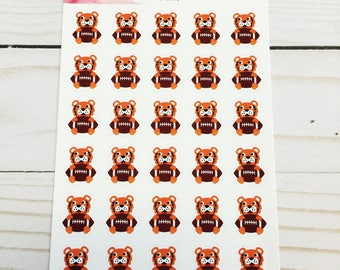 Tiger College Football Mascot Planner Stickers