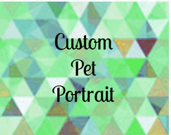 Custom Pet Pencil Portrait