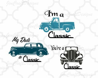 Classic Car Svg, Dad Svg, Vintage Fathers Day SVG, Fathers Day, Daddy,SVG,DXF,Ai,Jpg,Eps  Cricut Files, Silhouette Studio, Digital Cut Files