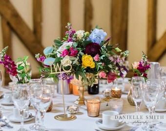 Gold Wedding Vases, Glass Glass Vases, Wedding Vases, Wedding Centerpiece Vases, Event Vase, Choice of Size, Reception Vases, Flower Vases