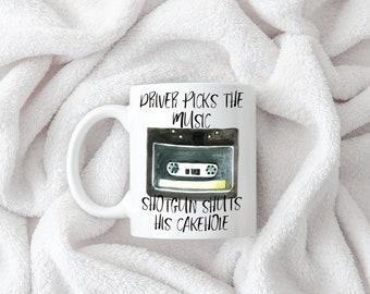 Driver Picks the Music, Shotgun Shuts His Cakehole Coffee Mug 11oz 15oz  Gift for Her Mom Wife Him Dad Husband Geeky Supernatural Dean Sam