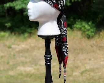 Gypsy scarf, Beaded Bandana, beads and headband, gypsy bandana