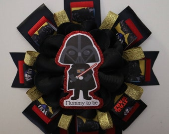 Darth Vader Star Wars Baby Shower Mommy to Be Corsage