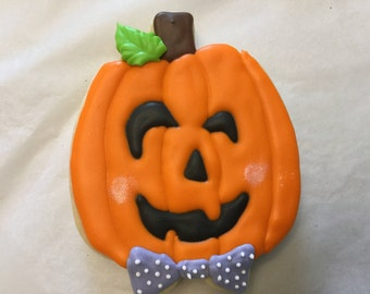 Halloween Pumpkin Jack O Lantern Cookies